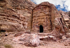 Ancient tomb in Petra Stock Photography