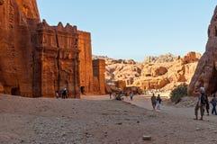 Ancient Tomb in Petra, Jordan Stock Photos