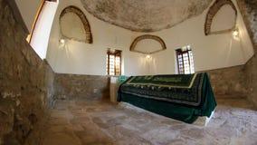 Ancient tomb of Sari Saltik Baba stock footage