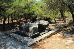 Ancient tomb. From Thassos in Greece Stock Photos
