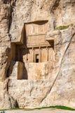 Ancient tombs of Achaemenid kings at Naqsh-e Rustam in Iran Royalty Free Stock Image