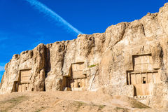 Ancient tombs of Achaemenid kings at Naqsh-e Rustam in Iran Royalty Free Stock Photography