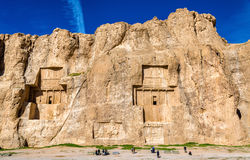 Ancient tombs of Achaemenid kings at Naqsh-e Rustam in Iran. Ancient tombs of Achaemenid kings at Naqsh-e Rustam in northern Shiraz, Iran stock photography