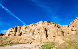 Ancient tombs of Achaemenid kings at Naqsh-e Rustam in Iran Royalty Free Stock Images