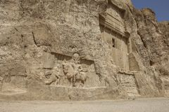 Ancient tombs of Achaemenid kings at Naqsh-e Rustam in the north. Of the administrative center of Shiraz, Iran stock photos
