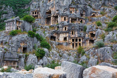Ancient tombs in Myra, Turkey Stock Photography