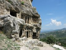 Ancient tombs in turkey tlos Stock Image