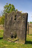 Ancient Tombstone. An ancient tombstone in Stirling, Scotland Royalty Free Stock Photography