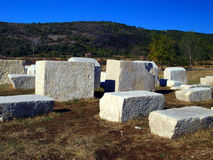 Ancient tombstones, cemetery Stolac, Bosnia and Herzegovina Royalty Free Stock Photography