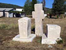 Ancient tombstones, cemetery Stolac, Bosnia and Herzegovina Royalty Free Stock Photos