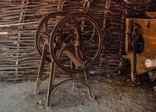 Ancient tool for cutting straw, chaff-cutter Royalty Free Stock Photography