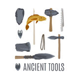 Ancient tools set for game design Stock Photos