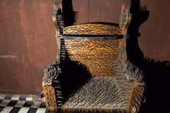 Ancient torture armchair Stock Photo