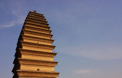 Ancient tower. China's ancient tower, the state-level cultural relics,Three saints tower Stock Photography