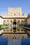 Ancient tower in the Alhambra Palace in spain Royalty Free Stock Images