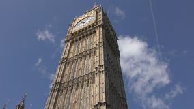 The ancient tower of Big Ben. The symbol of England. stock footage