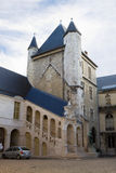 The ancient tower in the Burgundy dukes Palace. Dijon, France Stock Photos