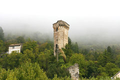 Ancient tower in Castellane (Provence) Royalty Free Stock Photography