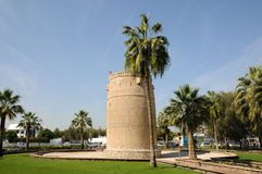 Ancient tower in Dubai Royalty Free Stock Image