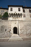 Ancient  Tower in Feltre, Veneto, Italy Stock Image