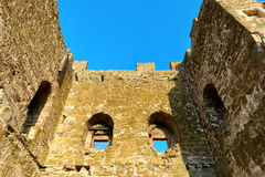 Ancient tower of the Genoese fortress in the city of Feodosia, C Royalty Free Stock Photography