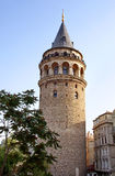 Ancient tower of Istanbul. Galata Tower district. Istanbul - Turkey Royalty Free Stock Photos