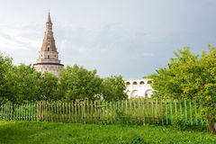 Ancient tower of the Joseph-Volokolamsk Monastery, Moscow region Stock Images