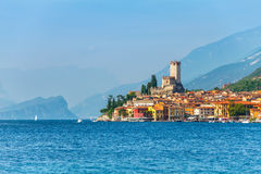 Ancient tower in Malcesine old town Royalty Free Stock Image