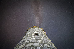 Ancient tower and the Milky Way Stock Photos