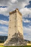 Historic tower near Trevi Stock Photography