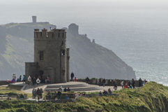Ancient tower over Cliffs of Moher Stock Photos