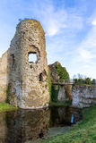 Ancient tower of Pevensey Castle Stock Images
