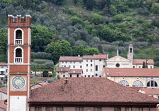Ancient tower in piazza degli scacchi in Marostica in Northern I Royalty Free Stock Image
