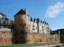 Ancient tower of roman boundary wall, Le Mans Royalty Free Stock Images