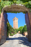 Ancient tower in Santa Vittoria D'Alba, Italy. Stock Photo