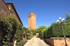 Ancient tower in Santa Vittoria D'Alba, Italy. Royalty Free Stock Image
