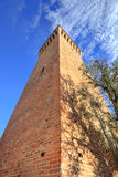Ancient tower. Santa Vittoria D'Alba, Italy. Stock Images