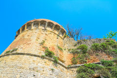 Ancient tower seen from below in San Gimignano Royalty Free Stock Photo