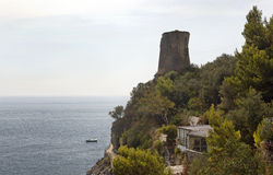 Ancient tower on the shore Stock Image
