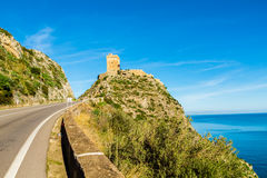 Ancient tower in  Sicily (Italy) Royalty Free Stock Photo