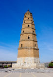 Ancient tower. WenBi Pagoda, Ming Dynasty architecture,  located in Pianguan County,Shanxi Province,China Royalty Free Stock Images
