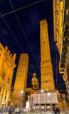 Ancient towers and church in Bologna, Italy Royalty Free Stock Photography