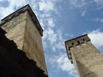 Ancient towers of Svaneti Royalty Free Stock Photo