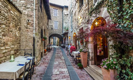 Ancient town of Assisi, Umbria, Italy Royalty Free Stock Photography