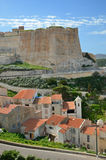 Ancient town Bonifacio in Corsica Stock Photos