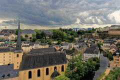 Ancient town in central Luxembourg Stock Image
