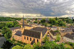 Ancient town in central Luxembourg Royalty Free Stock Photo