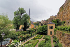 Ancient town in central Luxembourg Stock Photography