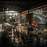 Residents in the south of the Yangtze River are preparing for the Spring Festival. The ancient town of an Chang is one of the four famous ancient towns in Royalty Free Stock Photography