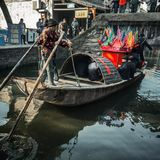 Residents in the south of the Yangtze River are preparing for the Spring Festival. The ancient town of an Chang is one of the four famous ancient towns in Royalty Free Stock Image